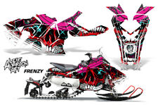 Polaris AXYS RUSH Pro S Sled Wrap Graphic Decal Kit Snowmobile 2015+ FRENZY RED