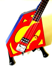 Miniature Guitar SUPERMAN with free stand