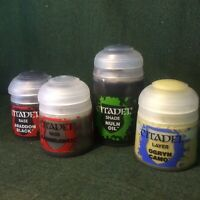 CITADEL Paint x4 (Shade / Layer / Base / 24ml / 12ml / WH4k / Games Workshop)