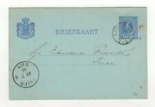 Pays-Bas entier postal sur carte postale 1886 tampon Katwijk /L358