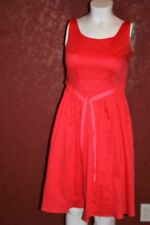 BODEN SLEEVELESS BELTED PINK DRESS COTTON SIZE 10L