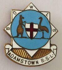 Adamstown RSL Bowling Club Badge Australian Coast Of Arms Rare Vintage (K5)