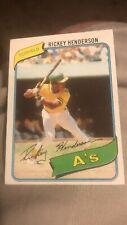 1980 Topps Baseball #482 Rickey Henderson Rookie RC