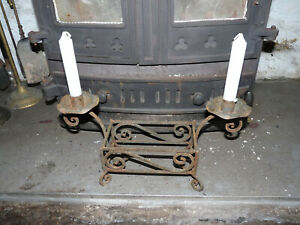 Sale - Antique Rustic Handmade Wrought Iron Candle Holder