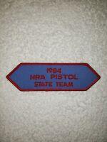Vintage NRA Pistol State Team Patch Badge 1984