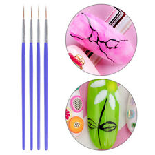21mm Nail Art Liner Brush Drawing Painting Pen Flower Blue Handle Manicure Tools