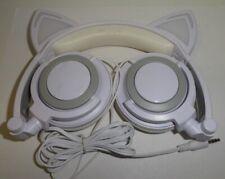 CL107 3.5mm Foldable Cat Ear Earphone LED Light Headphone Music Stereo Headset