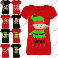 Christmas Crew Neck Short Sleeve T-Shirts for Women
