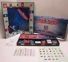 Monopoly My NFL Edition 2007 Customomize Your Football Game 8+ All Parts SEALED