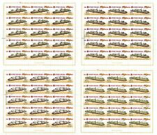RUSSIA 2015 Full Sheets, Weapon of the Victory, Armored Trains, Railway, MNH