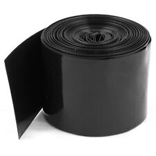 50mm PVC Heat Shrink Tubing schwarz 5m 16.4ft für 2 x 18650 Akku d6j8