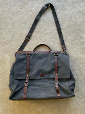 Dolce Gabbana Weekend Overnight Bag Grey Sicily Canvas & Leather Rrp £1010