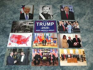 LOT of 12 POSTCARDS !!! Donald Trump 2020 Keep America Great MAGA --- Postcard