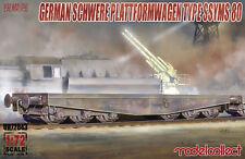 Modelcollect UA720430 Germany Schwerer plattformwagen type ssyms 80  1:72