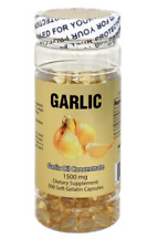 Garlic Oil Concentrate 3 MG (500:1) 300 Capsules Cholesterol FREE, Made In USA