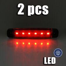 2x Rojo 6 LED Lateral Luces de marcaje Liquidación para Camiones Autobuses