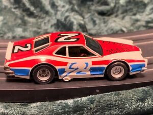RUNNING AFX MAGNATRACTION HO SLOT CAR 1975 MERCURY STOCKER WHITE RED #2