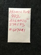 Watch Parts: Hamilton 992 Balance Staff No.607041, Qty.Two (2)