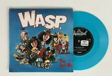 """7"""" 45 Blue Vinyl W.A.S.P. The Real Me CLG534 Gatefold Picture Sleeve Heavy Metal"""