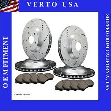 Front Rear Rotor Ceramic Pad For 2002 2003 2004 2005 2006 Nissan Altima
