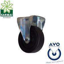 Ruota AVO 220H 80x24 rivestimento in gomma nucleo plastica con supporto fisso