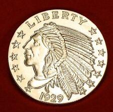 1929 INCUSE INDIAN DESIGN 5 oz .999% SILVER ROUND BULLION COLLECTOR COIN