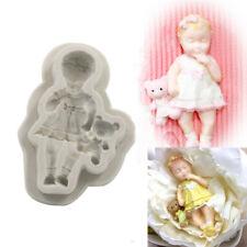 3D Sleeping Baby Bear Silicone Fondant Cake Mould Kid Girl Chocolate Baking Mold