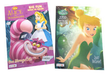 Alice in Wonderland Tinkerbell Disney Fairies Kids Coloring Book Activity Books