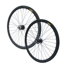 "AKTION: Laufradsatz (VR + HR) Wheelset Singlespeed Fixie 28"" 700C SCHW MATT 40mm"