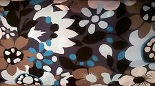 100% cotone poplin tessuto Design Retrò Blu Floreale al metro