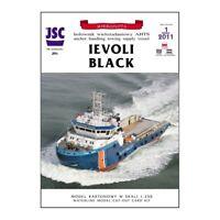"""GENUINE PAPER-CARD JSC MODEL KIT- Tug """"IEVOLI BLACK"""""""