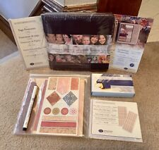 Creative Memories 7 X 7 Maroon Album Bundle Pages Pen Tape EVERYTHING U NEED!