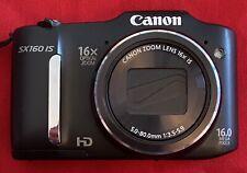 Canon PowerShot SX160 IS 16.0MP Digital Camera - Black & 1gb Sd Card
