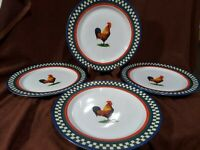 International Table Works Ella'S Rooster Dinner Plate Bob Timberlake 106