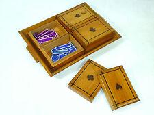 Originale Set da Gioco a 1900 Legno di pero Gioco di carte Gioco