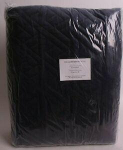 Williams Sonoma Home Trapeze Velvet Queen Coverlet quilt, full, navy blue
