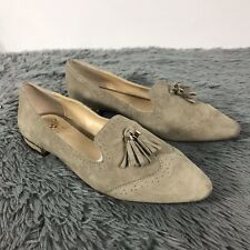 858f3201d2fc Vince Camuto Women s Flat Suede Loafers Tan Slip On Tassel Shoes Size 10M