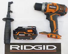"RIDGID 18v 18 VOLT 1/2"" CORDLESS DRILL DRIVER R86008 + 3.0 BATTERY BUNDLE"