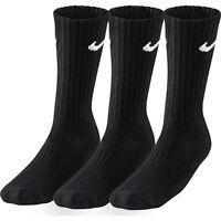 Nike Socks 3 Pairs Men's Black White Sports Crew Ankle Quarter Unisex Cotton