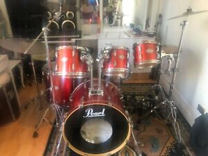 Drum Kit Pearl Vision SST Birch Shell 6 piece kit with cases