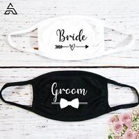 Bride Groom Face Mask, Wedding Gift face Masks 2021 Lockdown Guest Face Mask UK
