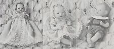 "5""ANTIQUE BYE-LO BABY DOLL BOY&GIRL@1920 CHRISTENING DRESS&BONNET/ROMPER PATTERN"