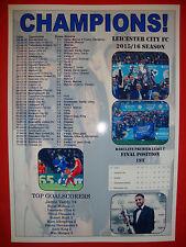 Leicester City 2016 Premier League champions - souvenir print