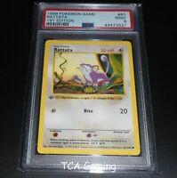PSA 9 MINT Rattata 61/102 1ST EDITION Base Set SHADOWLESS Pokemon Card