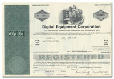 Digital Equipment Corporation Stock Certificate