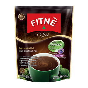 Fitne' Deluxe Instant Coffee Mix Powder With Fiber And Collagen 10 Sachets /Pack