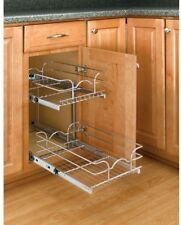 Rev A Shelf Cabinet Pull-Out Chrome 2-Tier Wire Basket Kitchen Storage Organizer