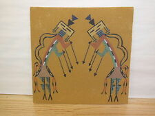 NAVAJO SAND PAINTING The Rainbow Boy = Guardian between Heaven & Earth - signed