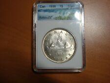 1936 Canada Beautiful High Grade Silver Dollar  #E-1