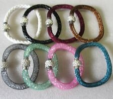 Wholesale 50 Bracelets Assorted Multi Magnet Diamonte Clasps. Parties Gifts